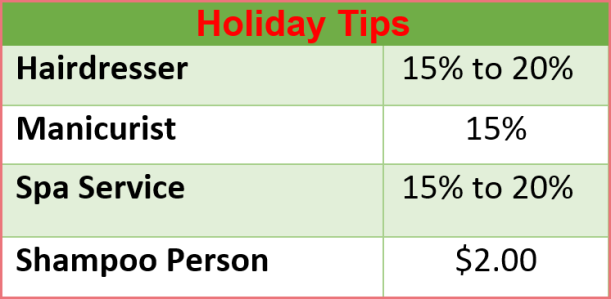 holiday tips #2