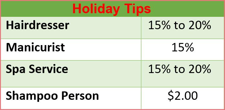 holiday tips #2